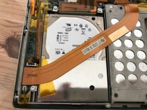 PowerBookG4のHDD交換
