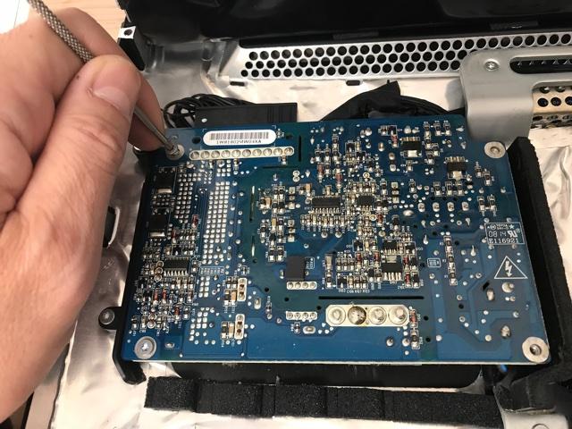 iMac電源ユニットの交換