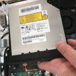 DVDドライブの交換